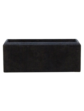 Кашпо Nieuwkoop Polystone Rectangle smoke, 17 см